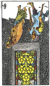 5 of pentacles - reversed